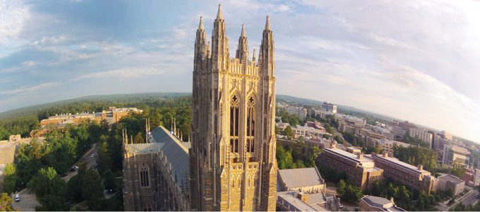 overhead view of duke chapel