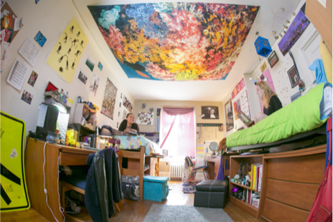 decorated duke dorm room
