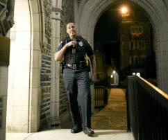 campus police officer Jeffrey Best smiling
