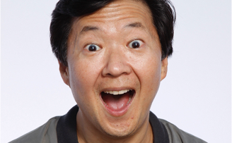 Ken Jeong close-up exclaiming