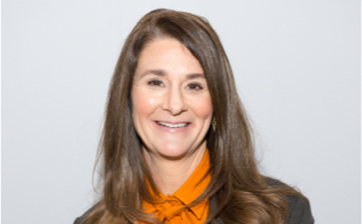 Melinda French Gates close-up smiling
